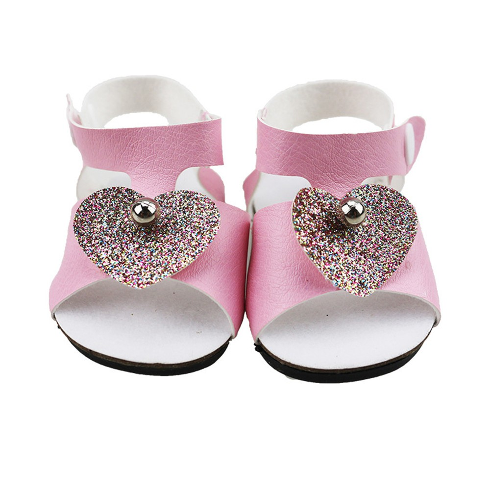 1a228ff779e1 American Girl Doll Shoes Heart Pearl Sandals Fit 43cm Baby Born Doll ...