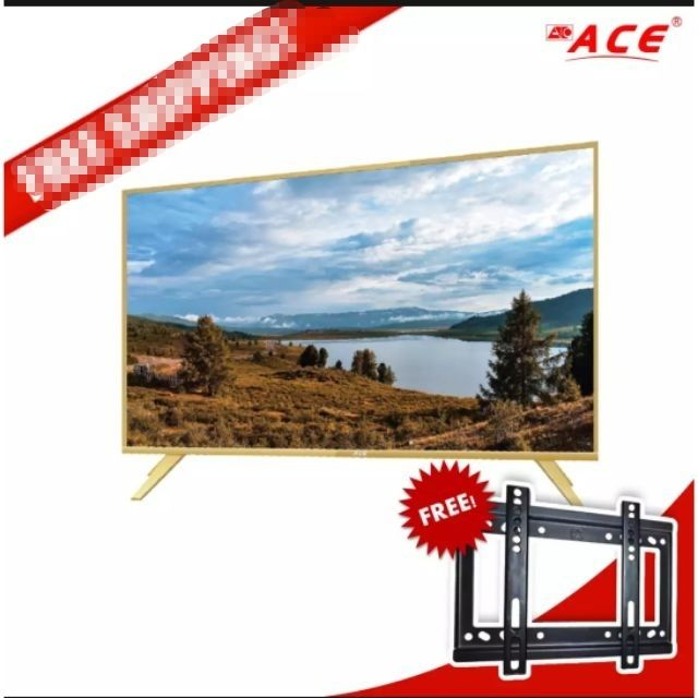 ACE  32 INCHES SMART LED TV SLIM GOLD FREE WALL BRACKET