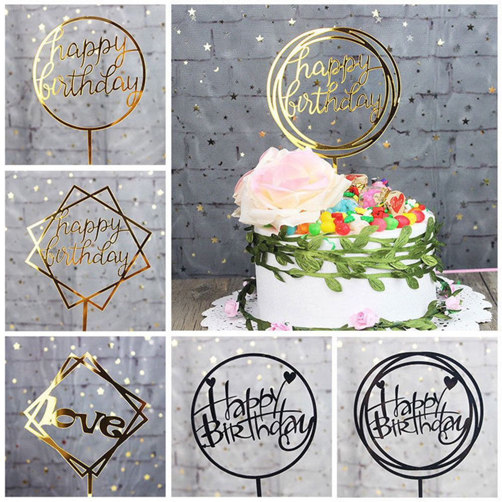 1pc Happy Birthday Basketball Cupcake Cake Toppers Art Door Cake Flags Kids Birthday Party Baby Shower Wedding Baking Decor Complete In Specifications Bands Without Stones