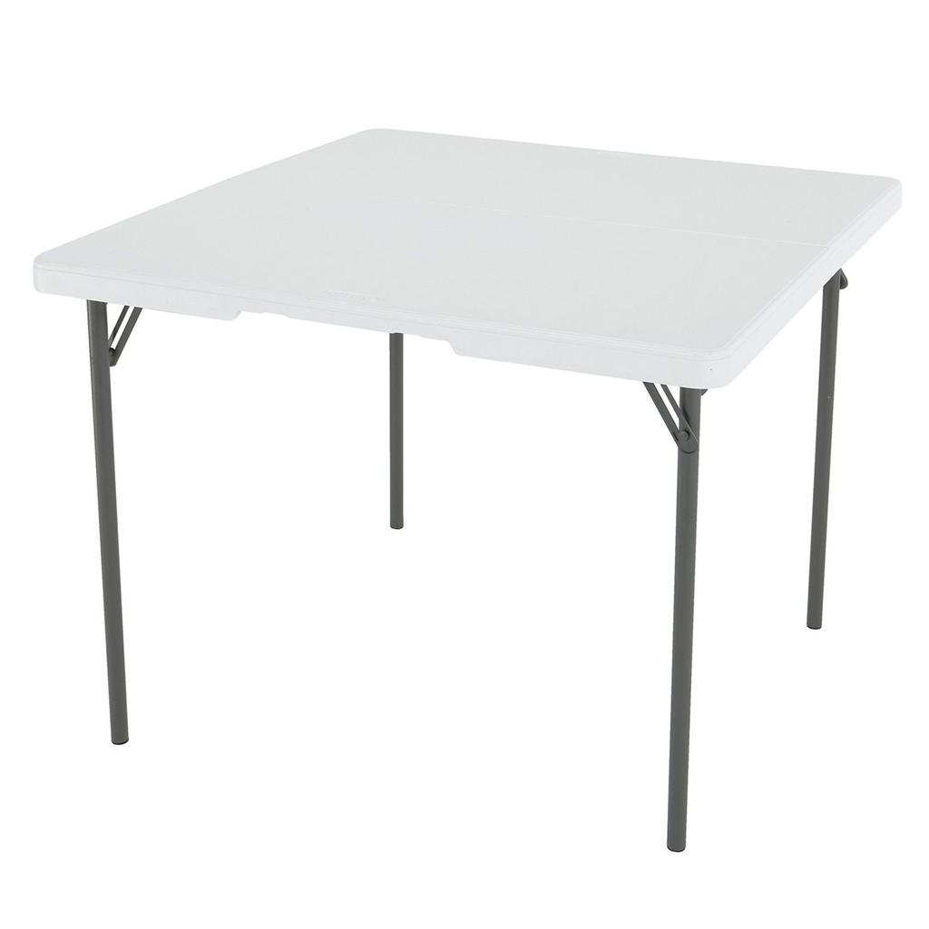 Lifetime Square Folding Table.Lifetime Square Fold In Half Table 37 X 37 White