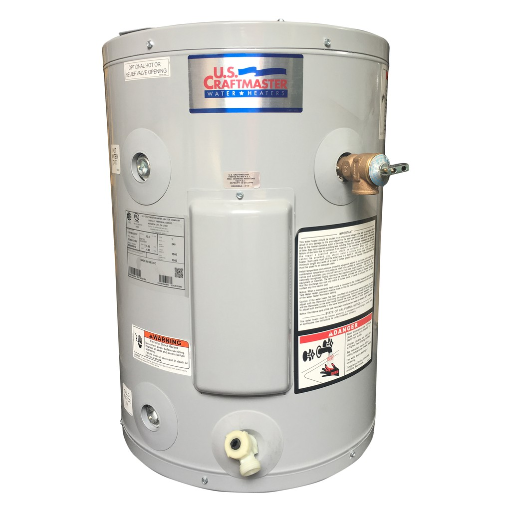 Us Craftmaster E1f12us015v Electric Water Heater Grey Shopee Philippines