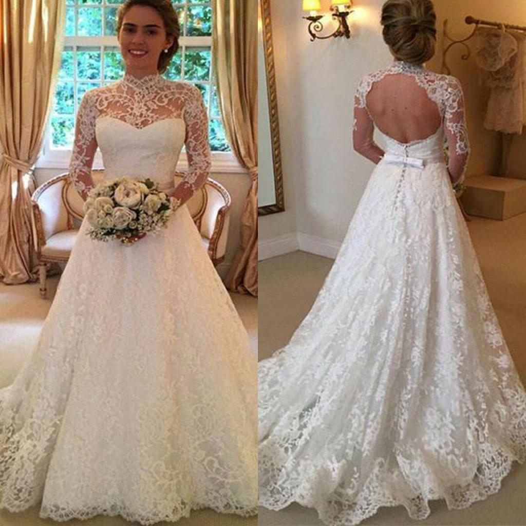 White Princess Bridesmaid Lace Wedding Dress Backless Shopee Philippines,Simple Long White Wedding Dress