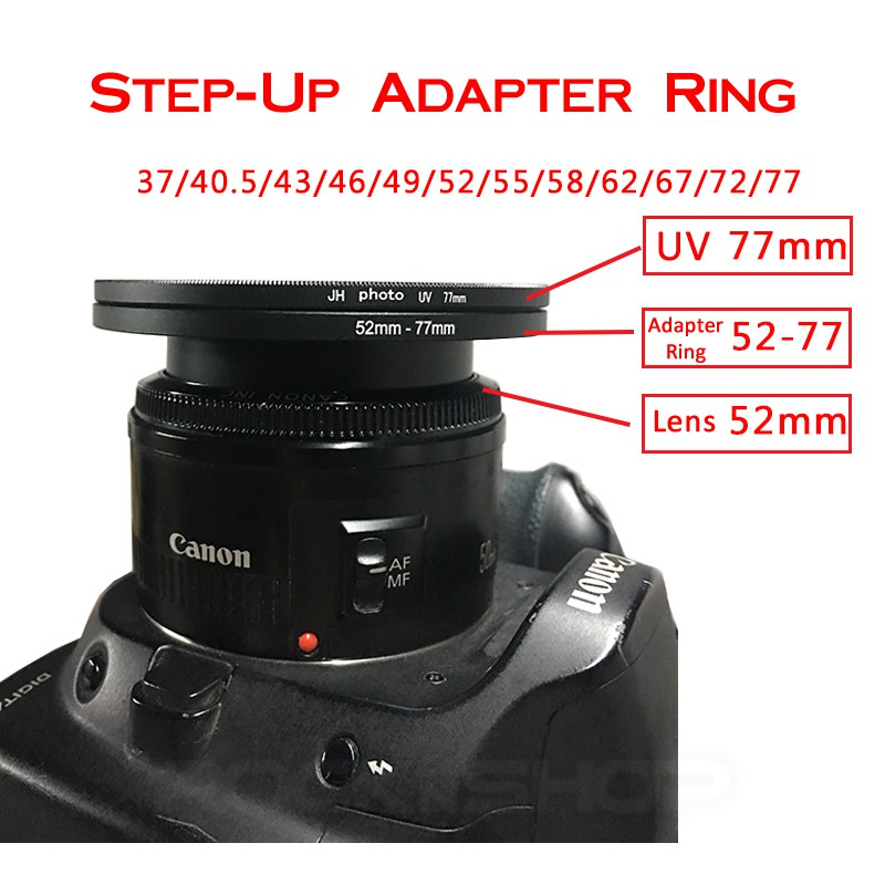 KAMERA RING STEP DOWN FILTER ADAPTER 52mm auf 50mm