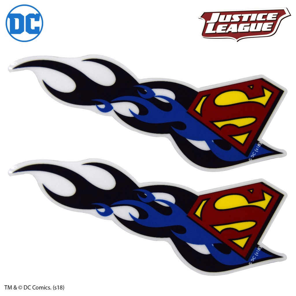 Superman decals 2 pcs flames design official product shopee philippines