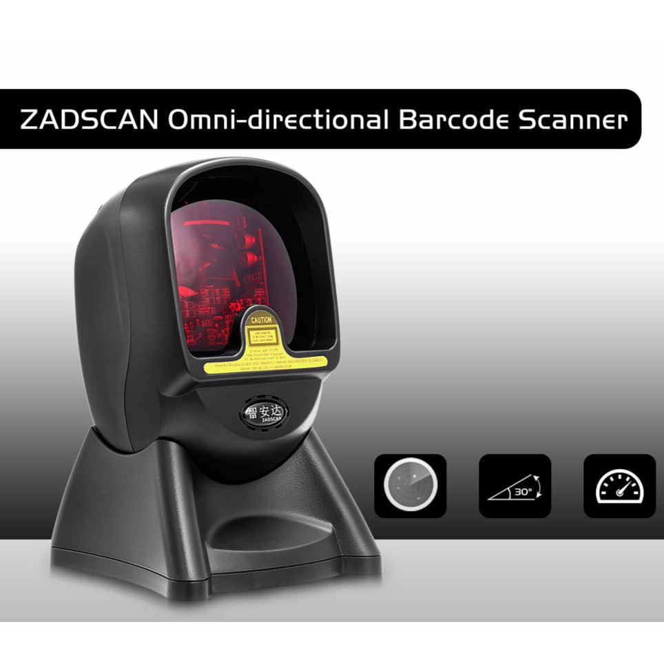ZADSCAN BP7220K Omni-directional Laser Barcode Scanner