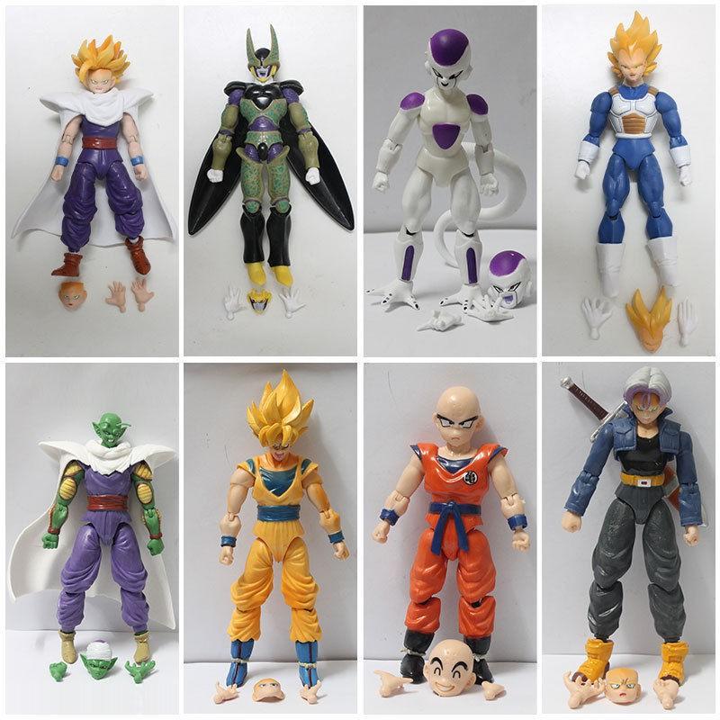 Lot 6 pcs Dragonball Z Dragon ball DBZ Joint movable Action Figure Toy Set Anime