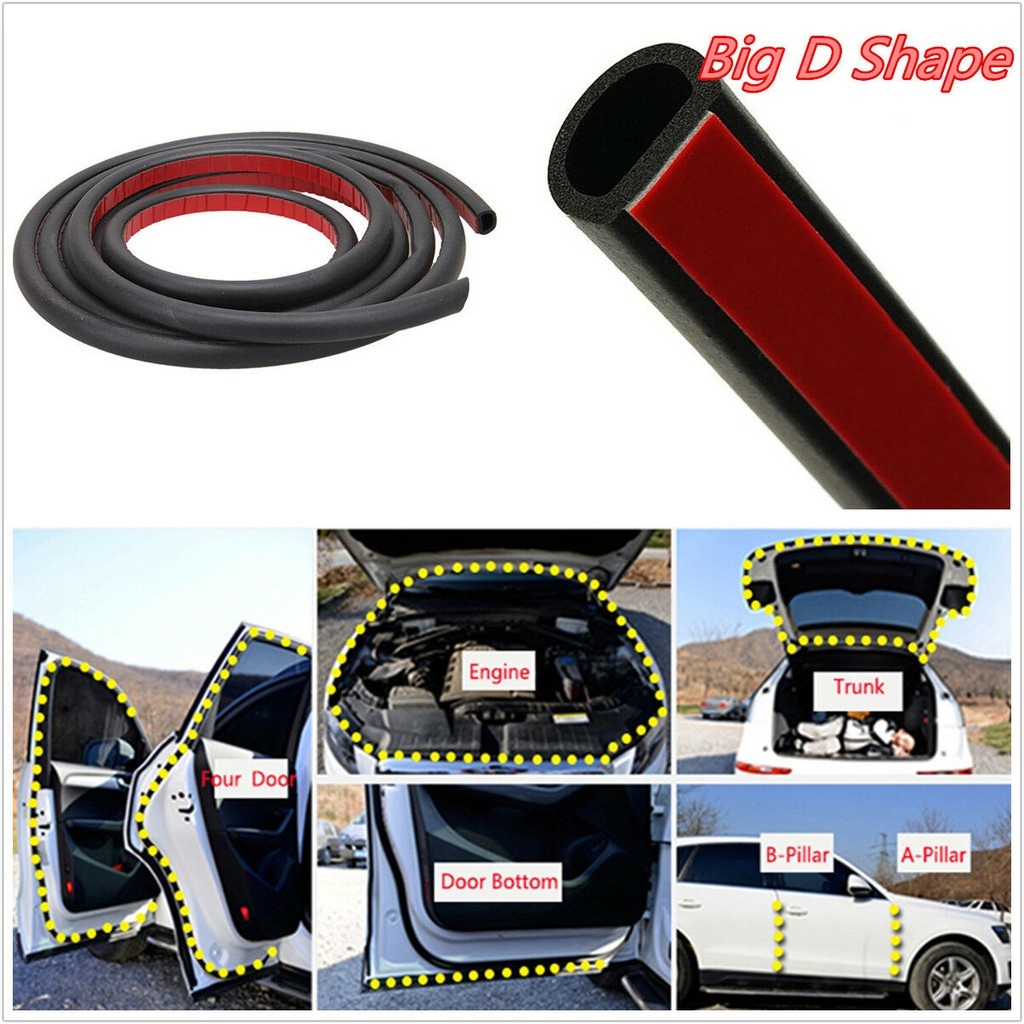 1m Big D-shape Window Door Rubber Seal Weather Strip Hollow Car Weatherstrip