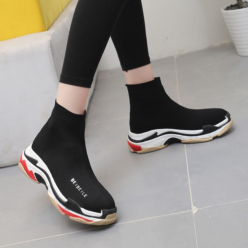a7af2575203b Socks shoes women ulzzang high ins super fire shoes sports s ...