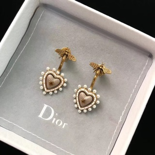 New Di Or Bee Heart Earring Br Pearl Non Allergic Woman Gift