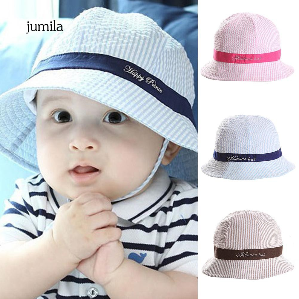 7779951cd6f4e JL_Toddler Infant Striped Sun Protection Summer Beach Baby Girl Boy Bucket  Hat | Shopee Philippines