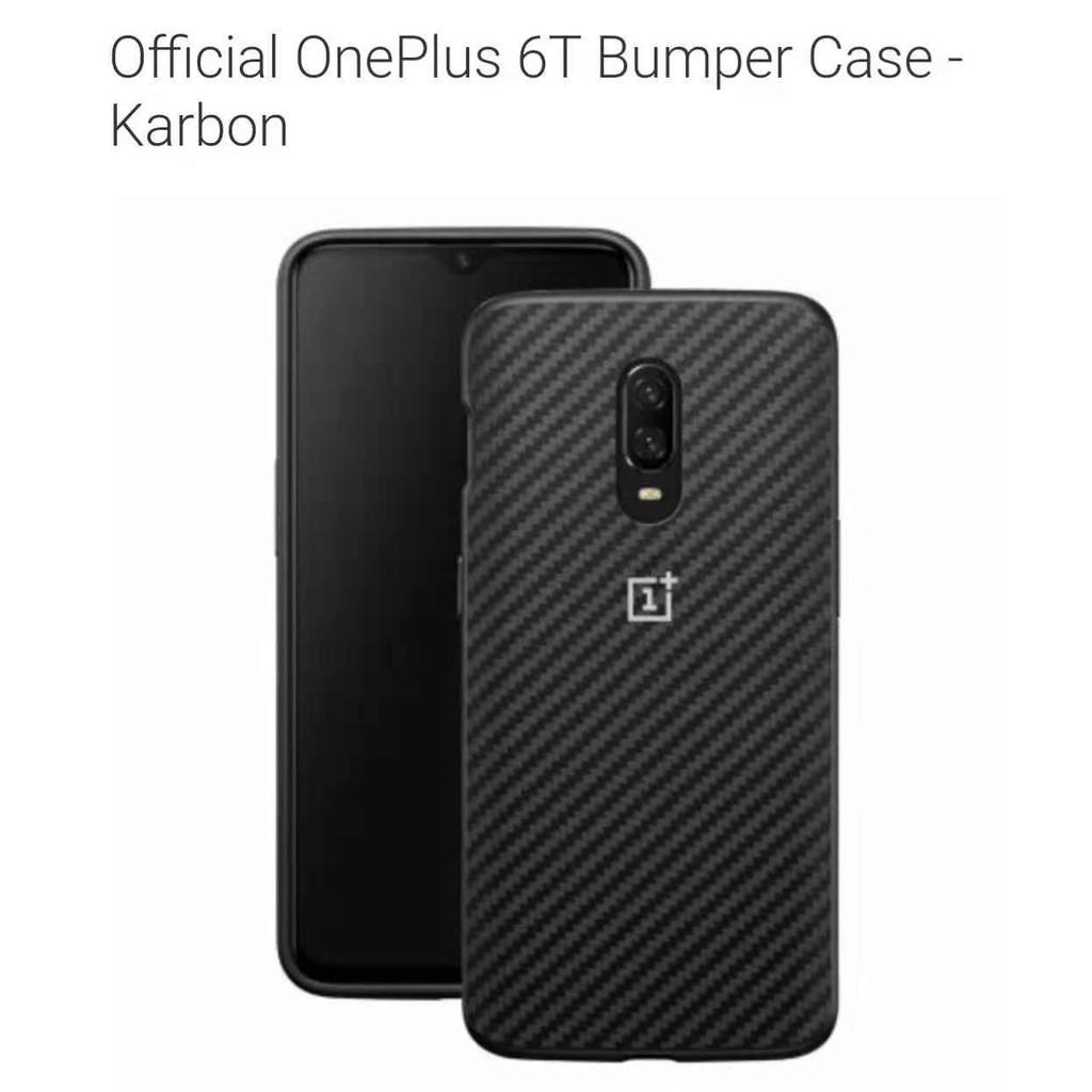half off 2ce41 94c3f OnePlus 6T Bumper Case Karbon