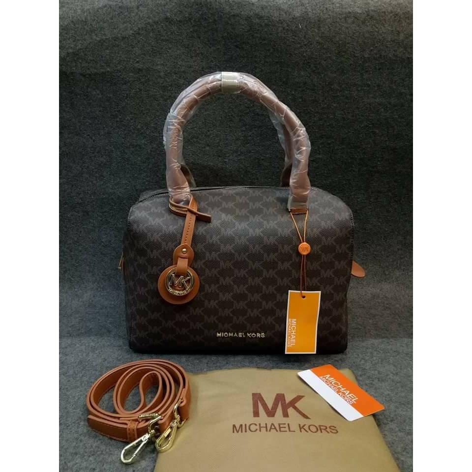 michael kors brown doctor bag