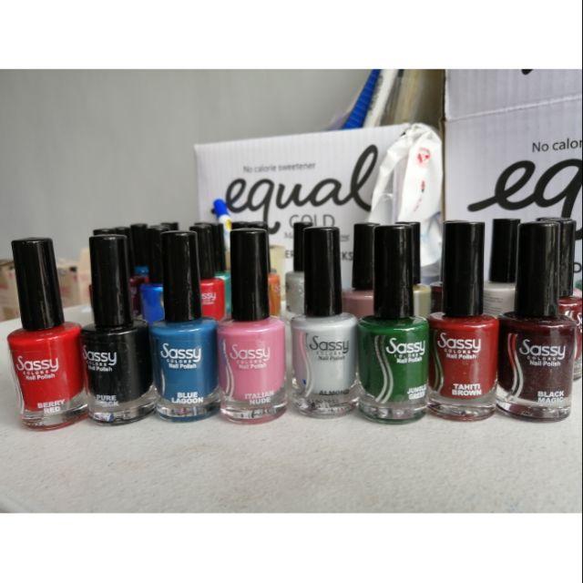 New products Sassy colors regular nail polish 12ml
