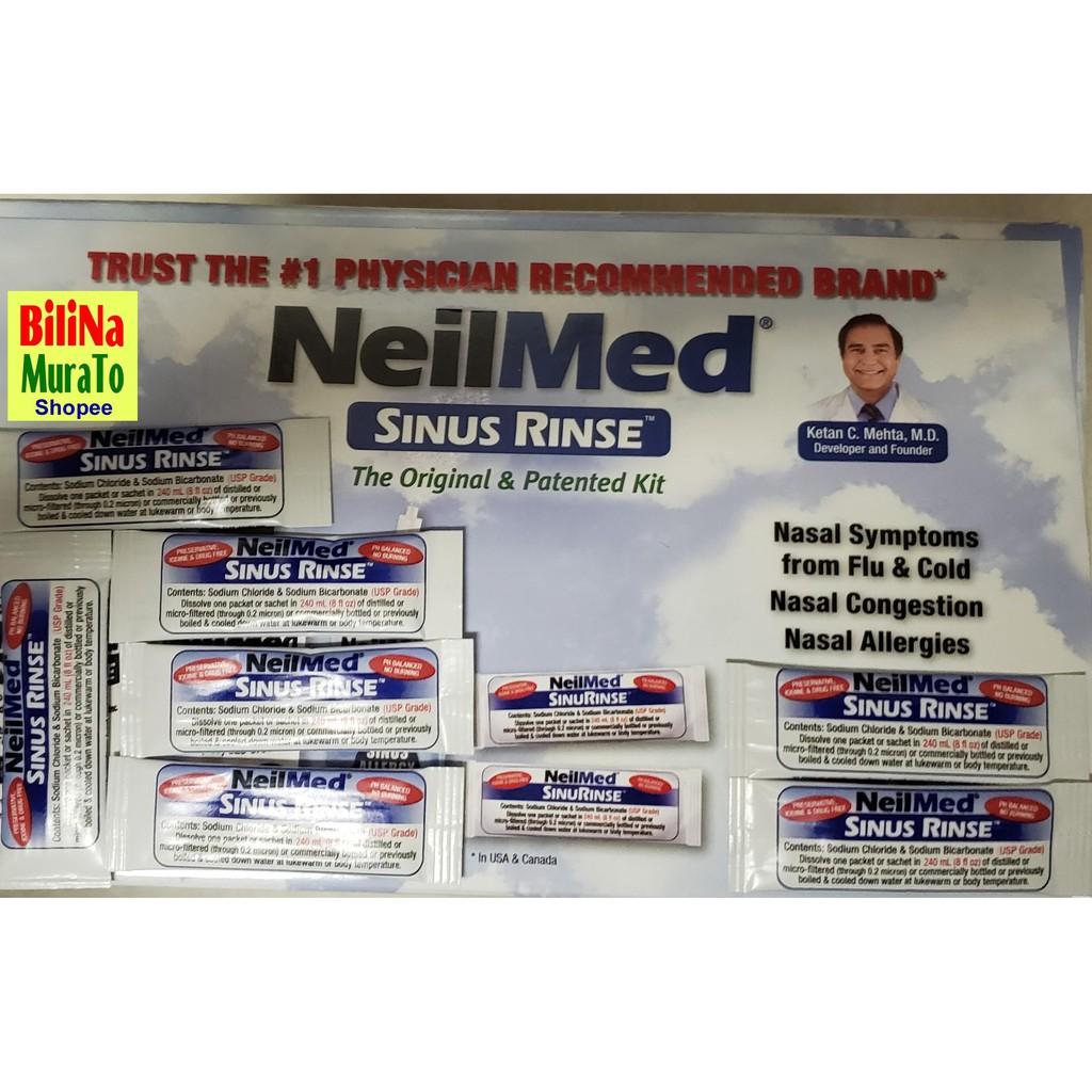 NeilMed Nasal Sinus Rinse 50 Premixed Packets   Shopee