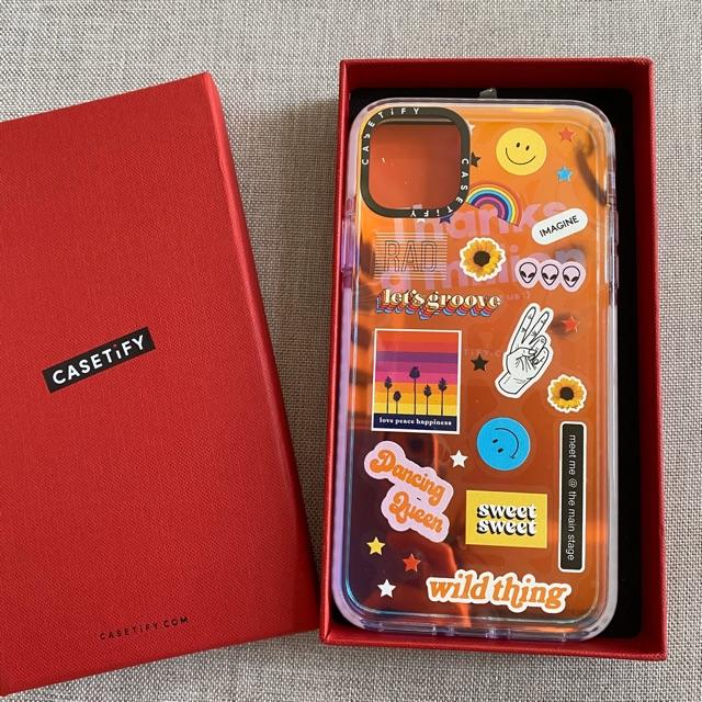 Original Casetify Iridescent Impact Case Sticker Fest Iphone 11 Pro Max Case Shopee Philippines