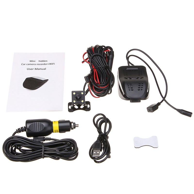 Hidden Wifi USB Car SUV DVR Dash Video Recorder Front+Rear