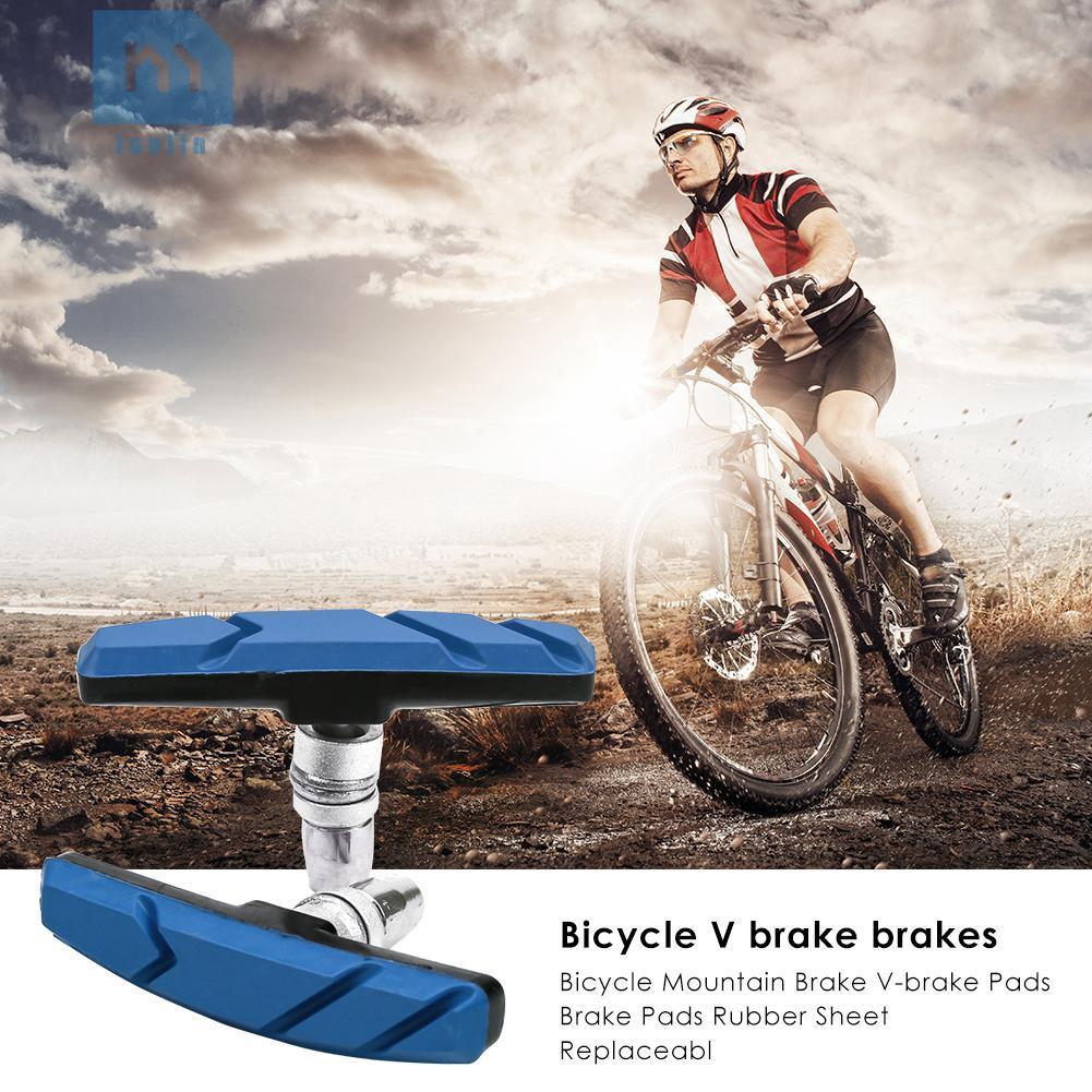 2PCS Bicycle Brake Pads Shoes V-brake VBrake for Mountain Bike MTB Cycling