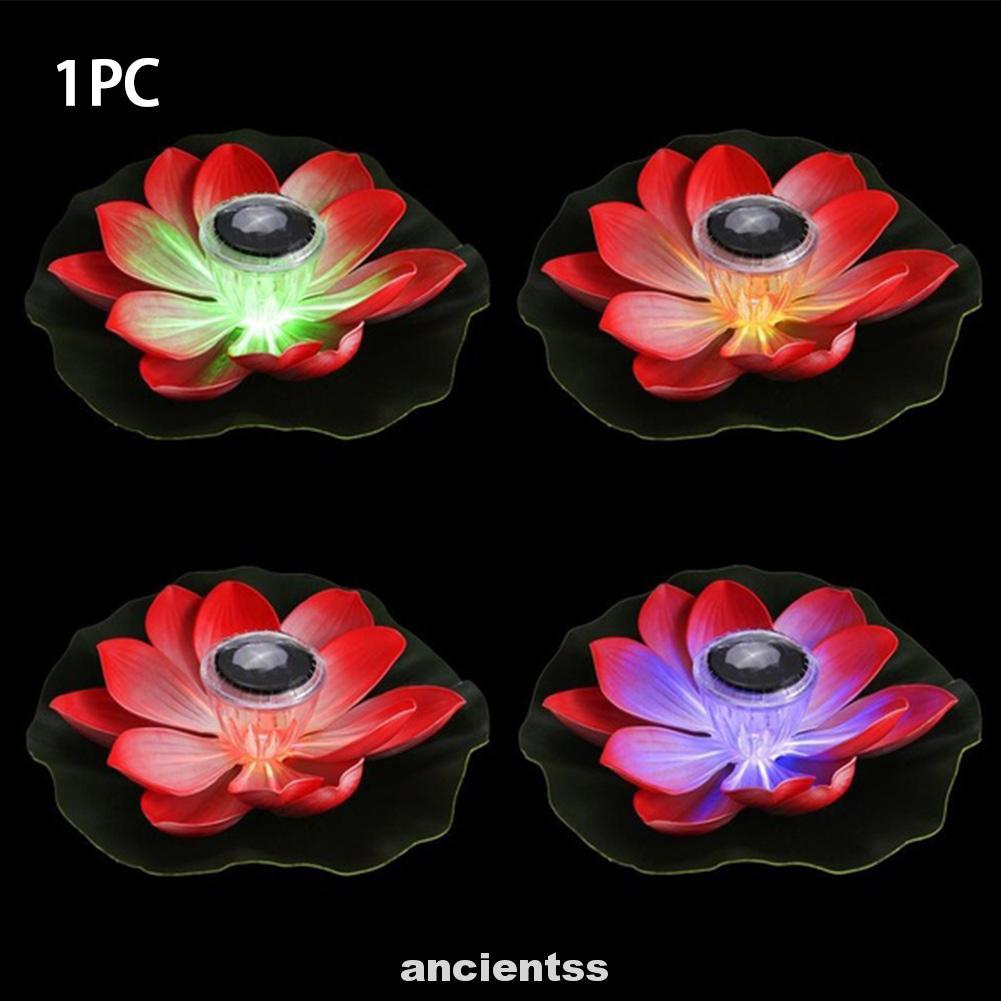 Lotus Flower Solar Powered Floating Lantern Wishing Outdoor Led Celebrations