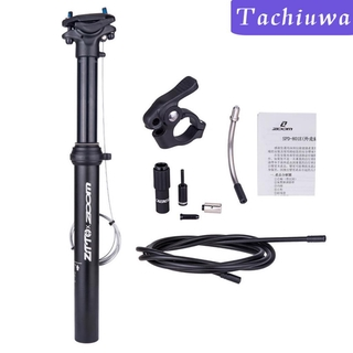 External Routing Dropper Post Seatpost Adjustable Bike 30.9//31.6mm 375MM 100MM