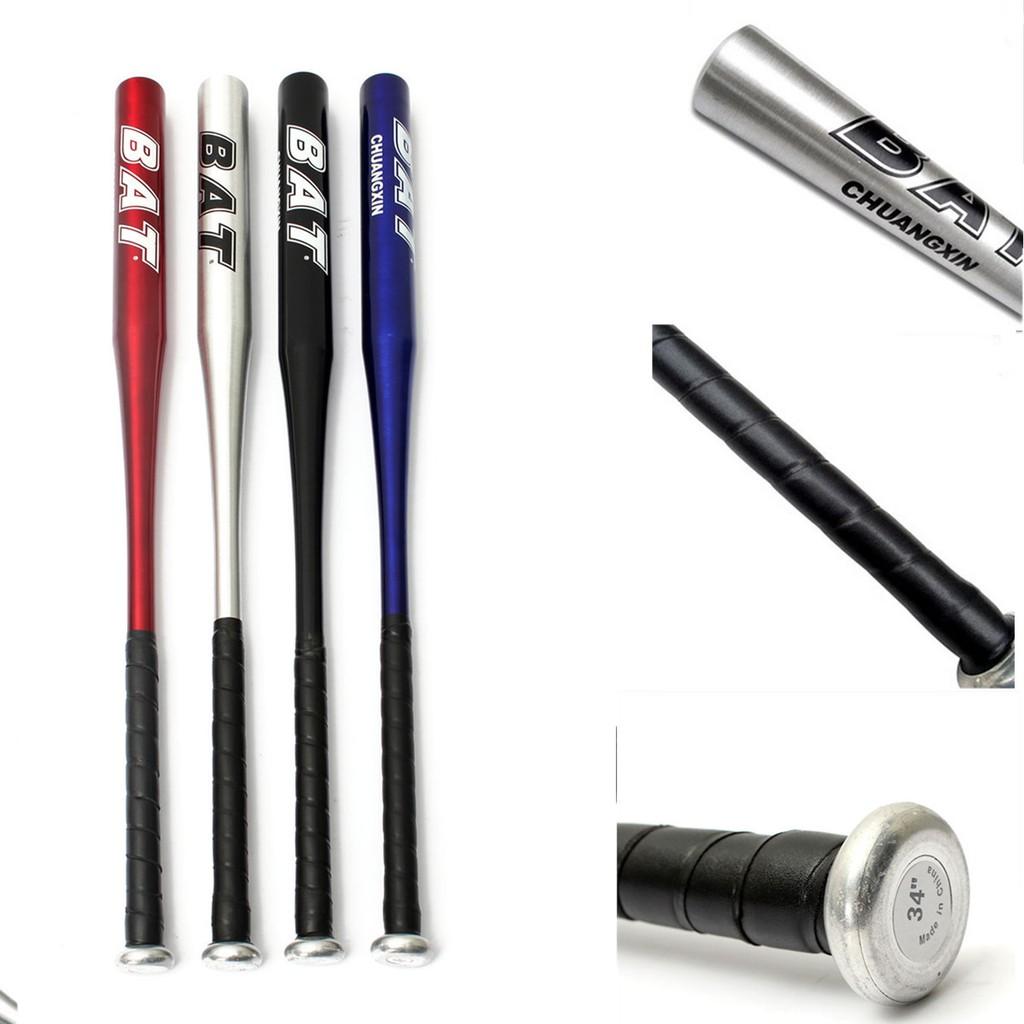 BLACK BASEBALL BAT 34 INCH BLACK LIGHT WEIGHT Aluminium METAL ALLOY YOUTH ADULT