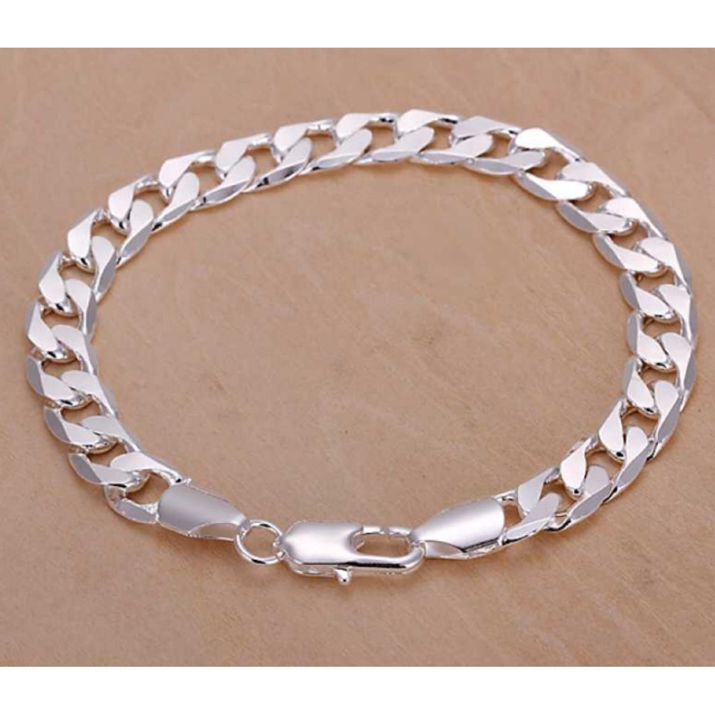 Men Bracelet 925 Hong Kong Silver White Gold Plated Jewelry