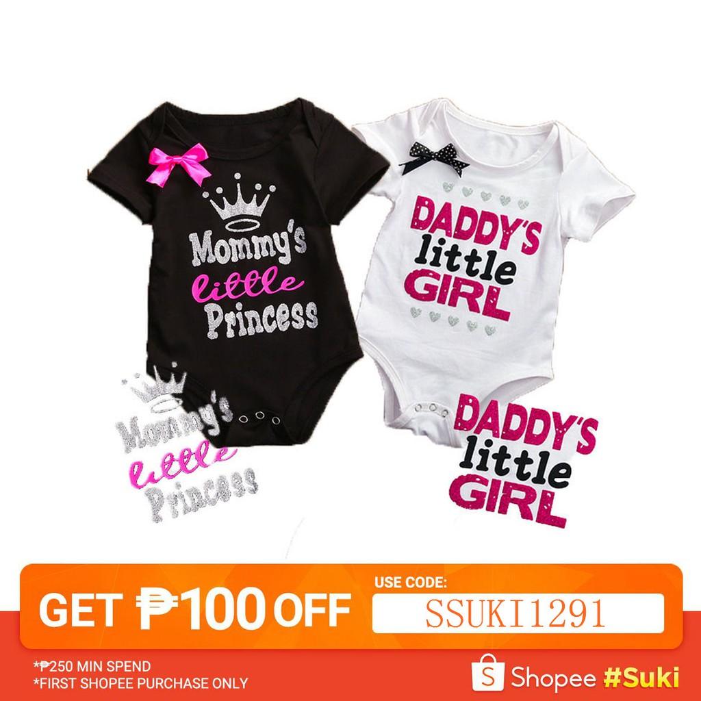 48803416cf871 Newborn Baby Floral Print Clothes Set Lace Jumpsuits Romper | Shopee  Philippines