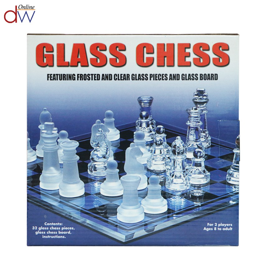 Glass Chess Clear Glass Chess Game 25x25cm (Small) | Shopee