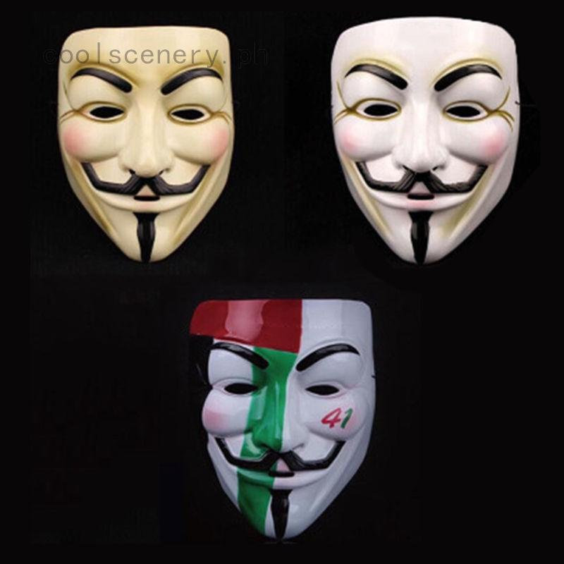 24 Styles Halloween Masks Guy Fawkes Anonymous Saw Costume Ball Cosplay Props