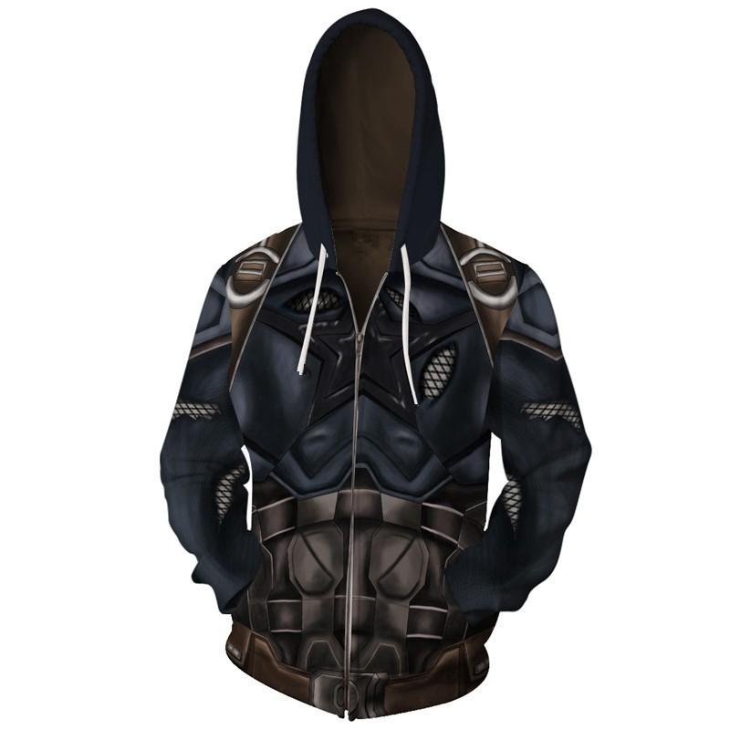 Captain America Hoodie Avengers Infinity War Men Sweater Zipper Jacket Sweatshit