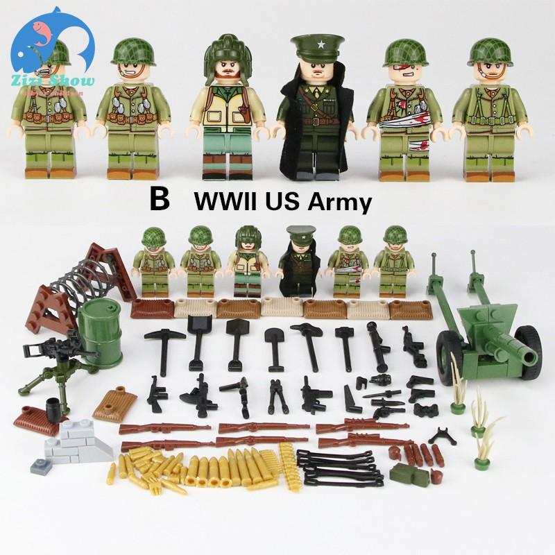 WW2 Mini German Army Soldiers Figures Building Block World War 2 Minifigs