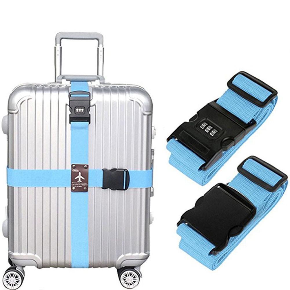 TSA Lock Travel Bag Adjustable Suitcase Strap Luggage Combination Security Belt