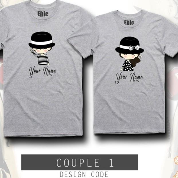 7e95af8e8e17 Personalized Chibi Couple Shirt | Shopee Philippines