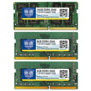 Xiede Laptop Memory Ram Module Ddr4 2666 Pc4-2666V 288Pin
