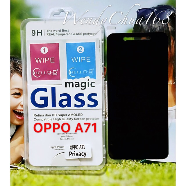 🎧COD Oppo A71 privacy tempered glass a71 Screen Protector   Shopee Philippines