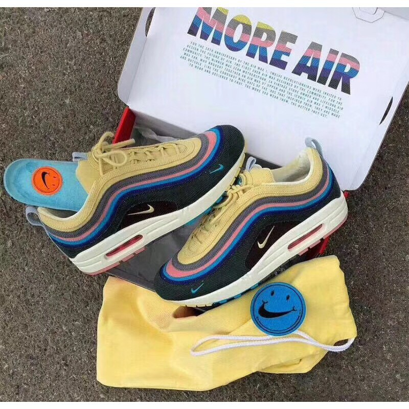 lowest price d8670 96ea1 Sean Wotherspoon x Air Max 97 1 Rainbow Retro AJ4219-400   Shopee  Philippines