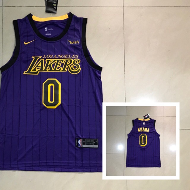 best service 12ca2 4ab67 Kyle kuzma nike lakers city edition jersey OEM quality