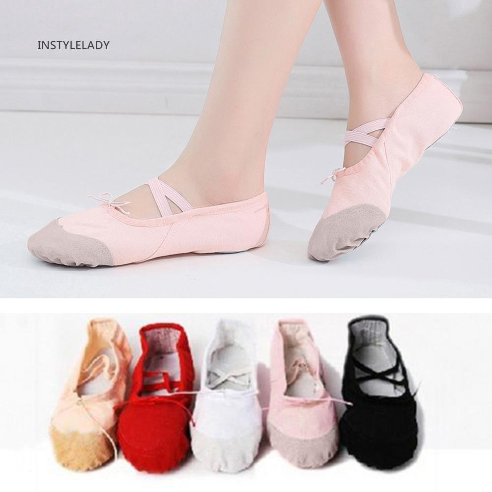 Adult Kids Girl Gymnastics Ballet Dance Shoes Canvas Slippers Pointe Dance New