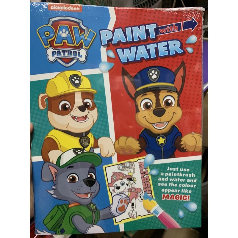 paw patrol paint with water  shopee philippines