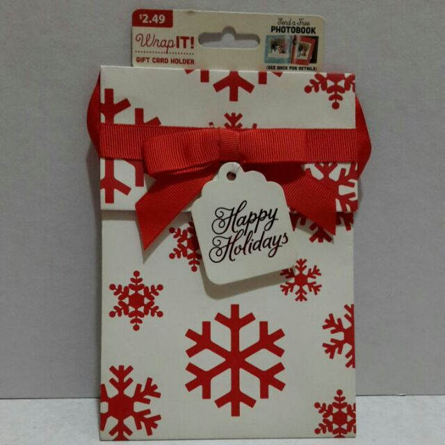 """WRAP IT GIFT CARD HOLDER 2"""" x 4 1/2"""" x"""