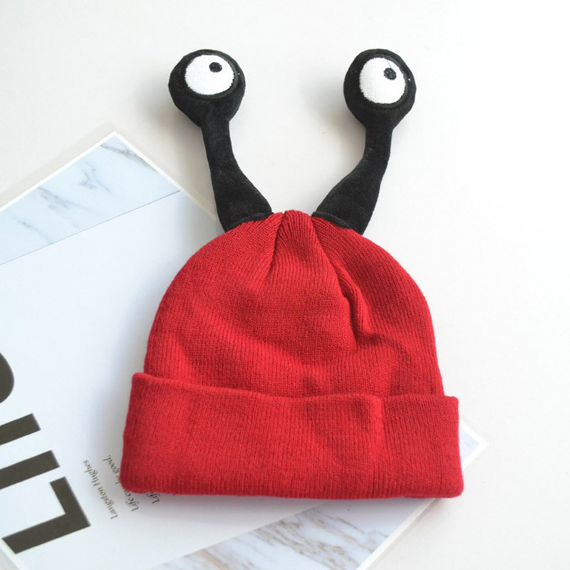 640926bd7 Children Hats Cute Insect Eye Kids Baby Winter Cap Hats Girls Boys ...