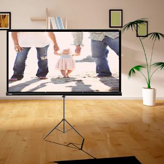 Demino Portable Projector Screen Simple Foldable Front Rear Polyester Projection Screen for Home Theater Outdoor Use 2# 72inch