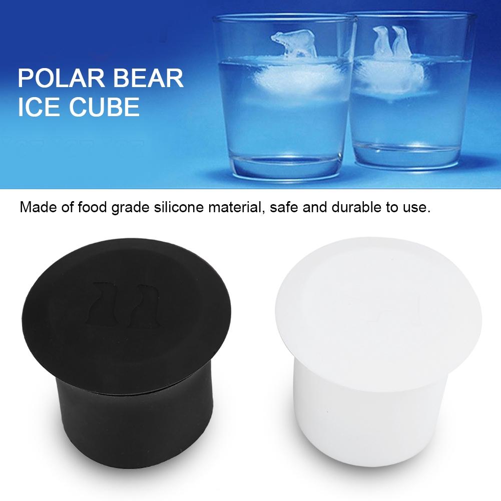 Kitchen Silicone Party Tray Mold Tools 2pcs Cube Polar Bear Ice Maker Penguin