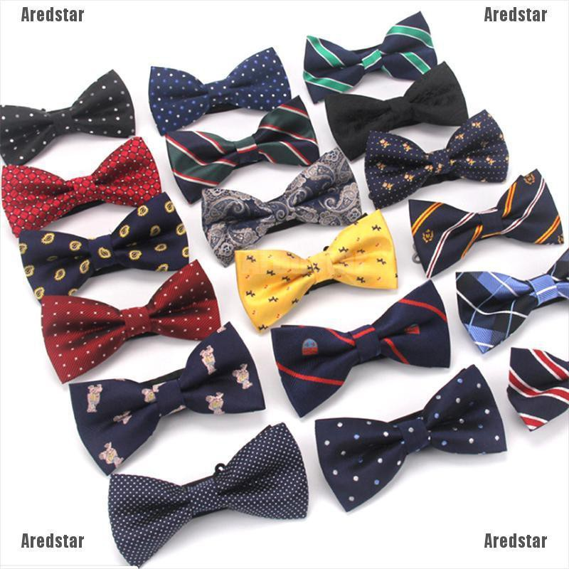 Men Bowtie Bow Tie Suit Necktie Adjustable Formal Tuxedo Wedding Party Ties Gold