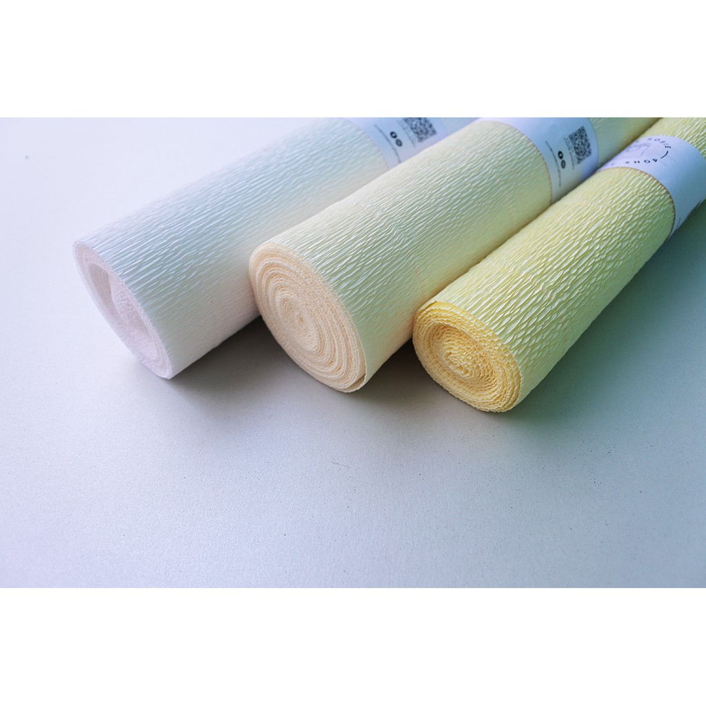 White Premium Italian Crepe Paper Roll Heavy-Weight 180 gram-24 Colors for Choose