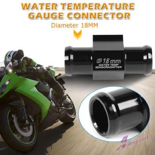 Universal Motorcycle Water Temp Temperature Joint Pipe Hose Sensor Gauge Adapter Acouto Black Water Temp Adapter 18mm