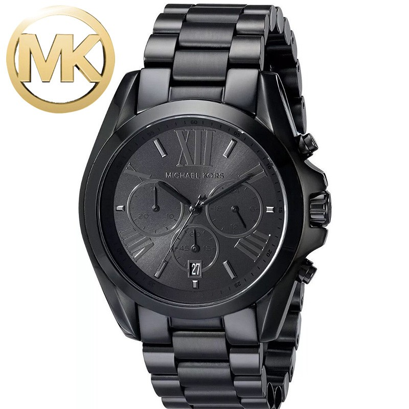 Widhe29 Steel Watch Stainless Men's Mk Michael Original Kors Black dxBQoECeWr