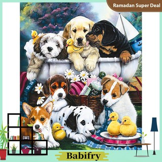 Full Drill Diamond Painting Kit Like Cross Stitch Colored Drawing Dog DIY ZY191A