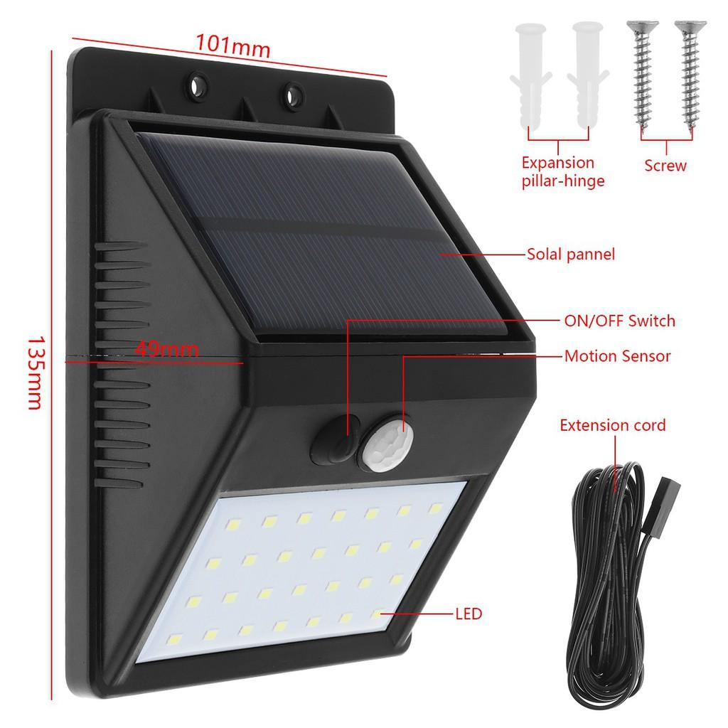 High Bright 28 LEDS Solar Motion Sensor Separable Light