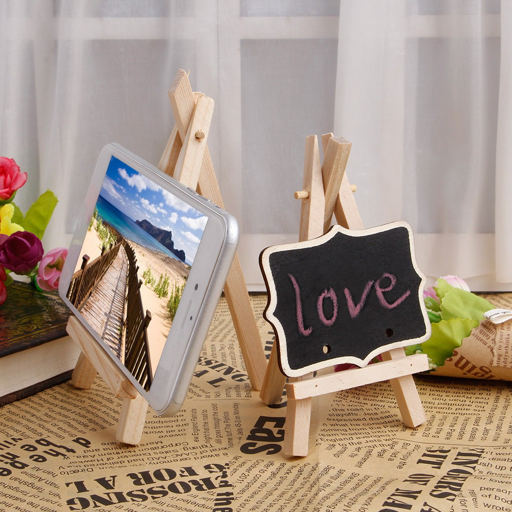 10pcs Stand Card Canvas Holder Wedding Party Mini Wooden Easel Display Painting
