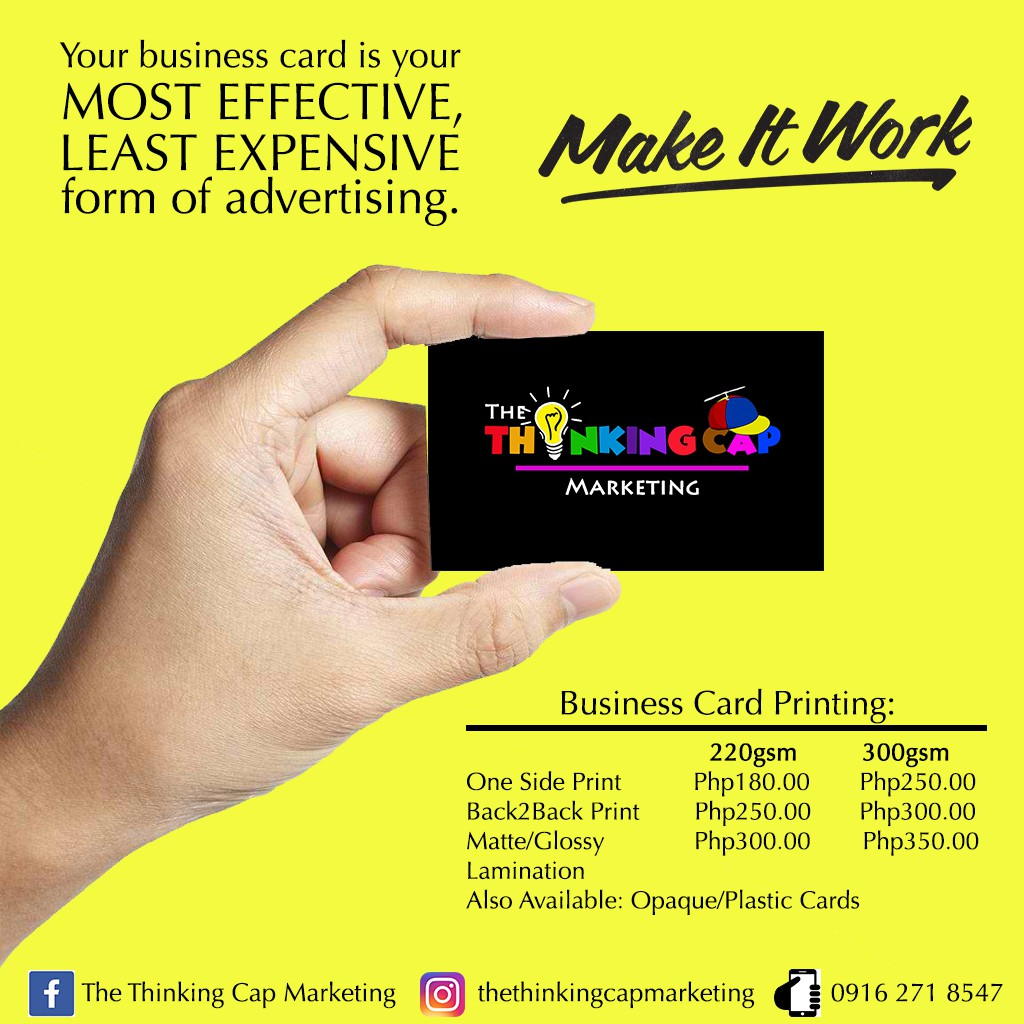 Calling Card / Business Card | Shopee Philippines